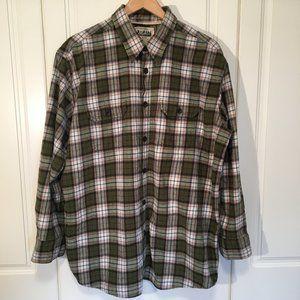Midtown 100% cotton men's flannel plaid shirt XL